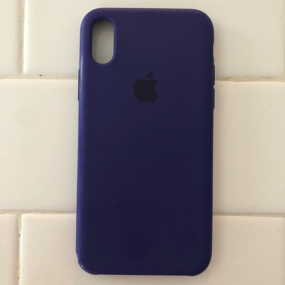 reputable site f8538 a1ce4 Apple iPhone X Silicone Case in Ultra Violet Used